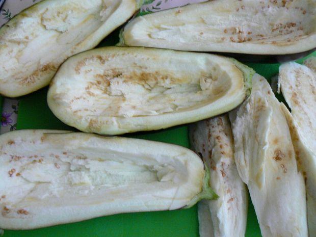 Zapiekany bakłażan z bobem i jęczmienna kaszą