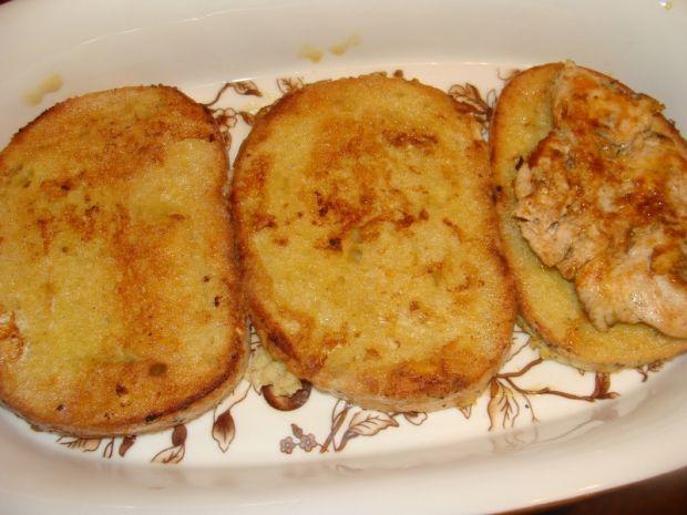 Zapiekany chleb z filetem