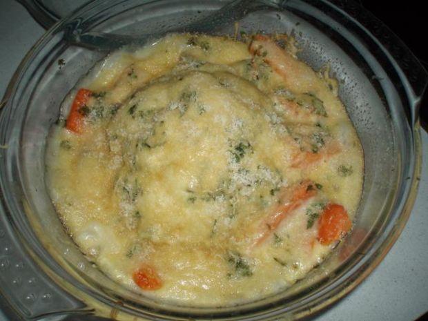 zapiekany kalafior w sosie serowo ziołow