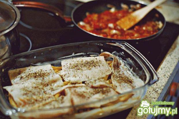 Zapiekany mintaj na fasolce szparagowej