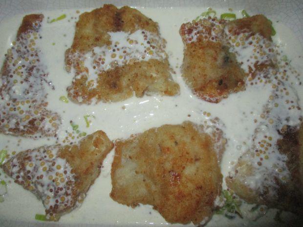 Zapiekany morszczuk w sosie musztardowym