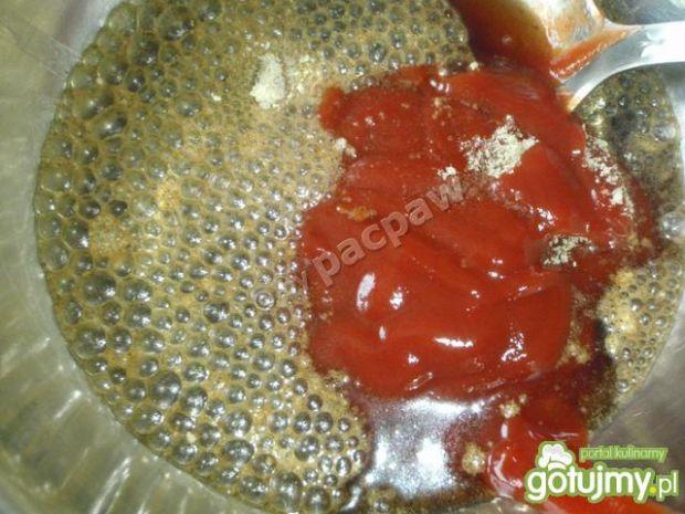 Żeberka pieczone w coli.