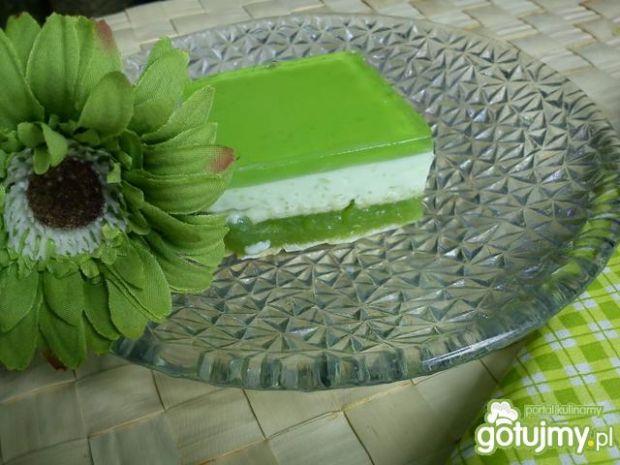 Żelkowy zielony sernik