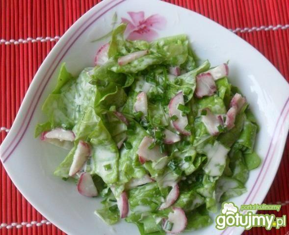 Zielona sałata z rzodkiewką
