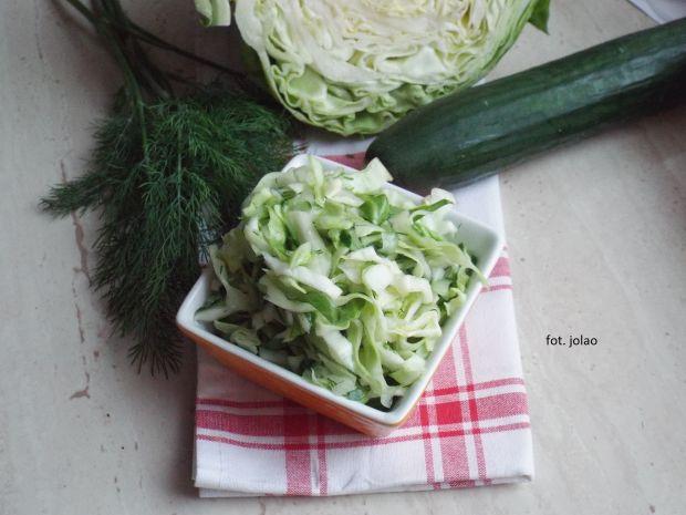 Zielona surówka z kapusty i ogórka