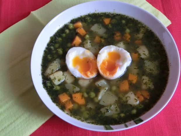 Zielona zupa dla dbających o linię