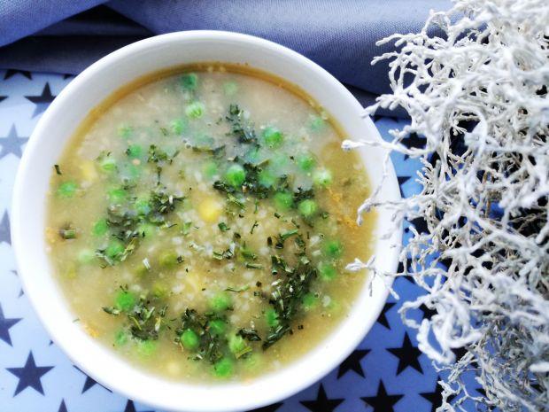 Zielona zupa z groszku