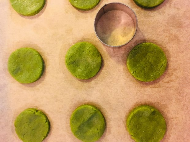 Zielone ciasteczka Matcha