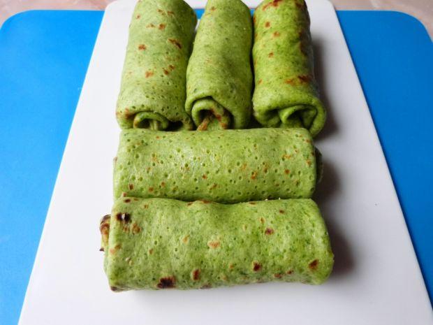 Zielone krokiety z mięsem i boczniakami