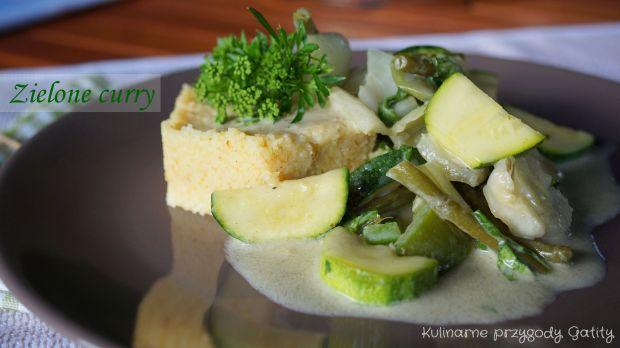 Zielone warzywne curry
