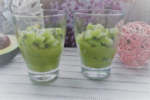 Zielony krem owocowy