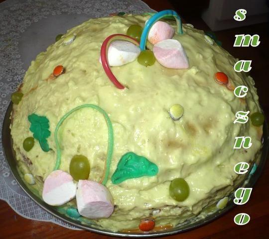 Zielony tort - ufo
