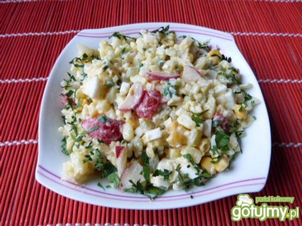Ziemniaczana sałatka z jajkami
