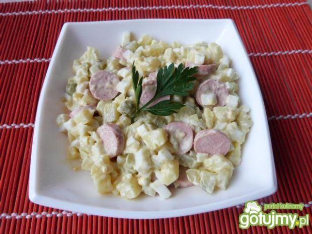 Ziemniaczana sałatka z prówkami