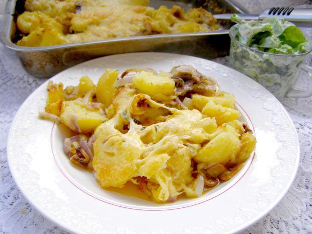 Ziemniaczana zapiekanka z indykiem,serem