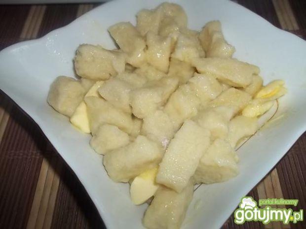 Ziemniaczane kluski z jabłkiem