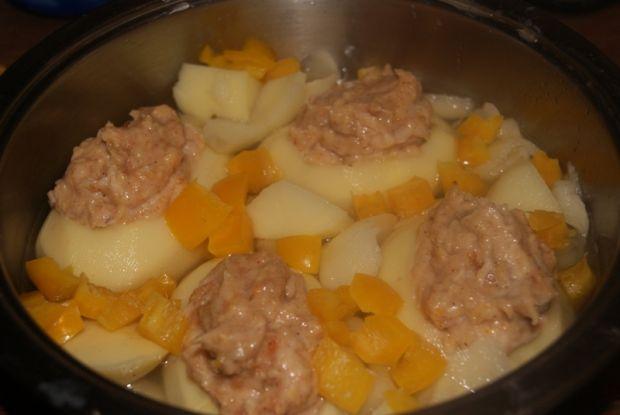 Ziemniaki faszerowane kurczakiem