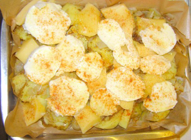 Ziemniaki pieczone z mozzarellą na ostro