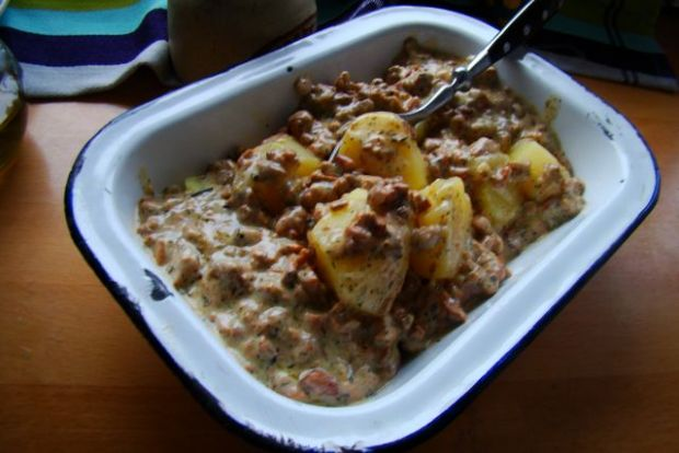 Ziemniaki w sosie kurkowym