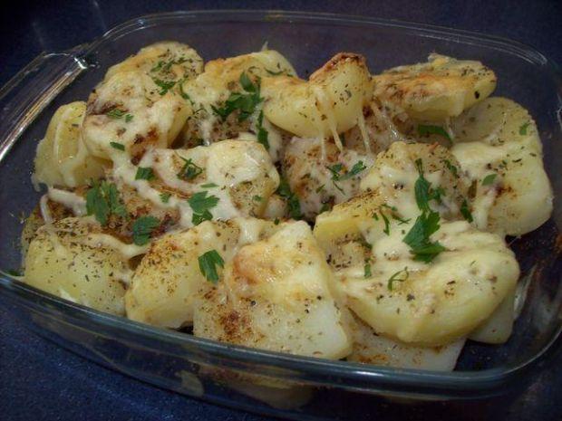 Ziemniaki zapiekane z bazylią i serem