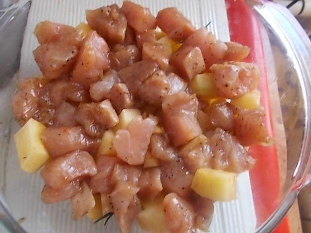 Ziemniaki zapiekane z kurczakiem