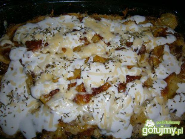 Ziemniaki zapiekane ze śmietaną i cebulą
