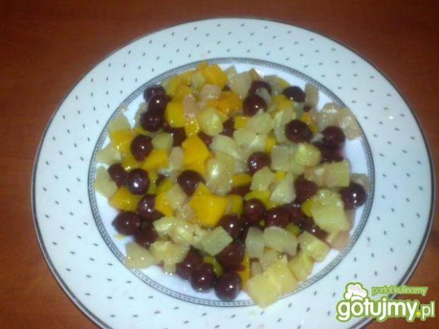 Zimowa sałatka owocowa 2