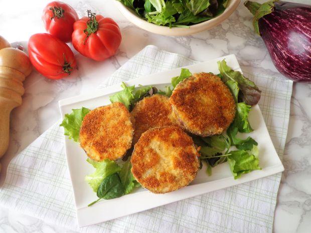 Ziołowo-serowe kotleciki z bakłażana