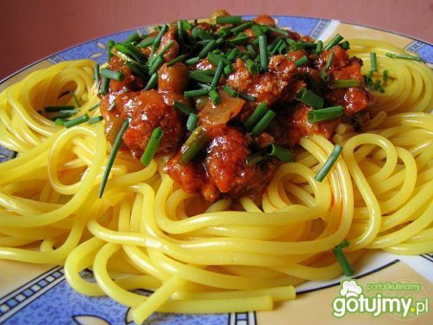 Złote spaghetti