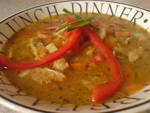 Zupa a`la flaczki sojowe.
