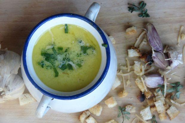 Zupa antywirusowa czyli czosnkowo serowa