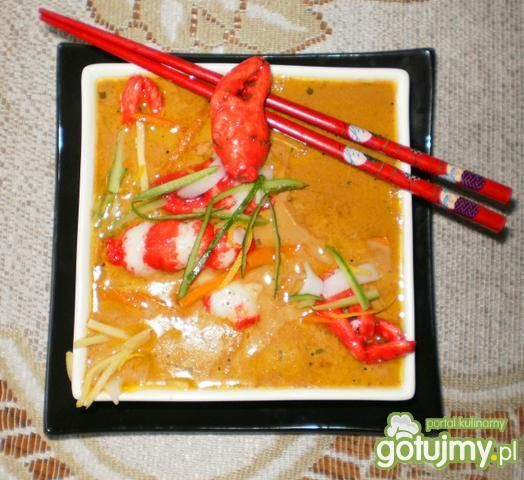 Zupa 'chętka na krewetki'
