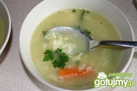 Zupa cukiniowa z ryżem