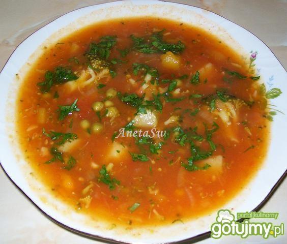 Zupa dyniowo - pomidorowa