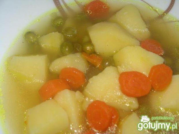 Zupa groszkowa z marchewką