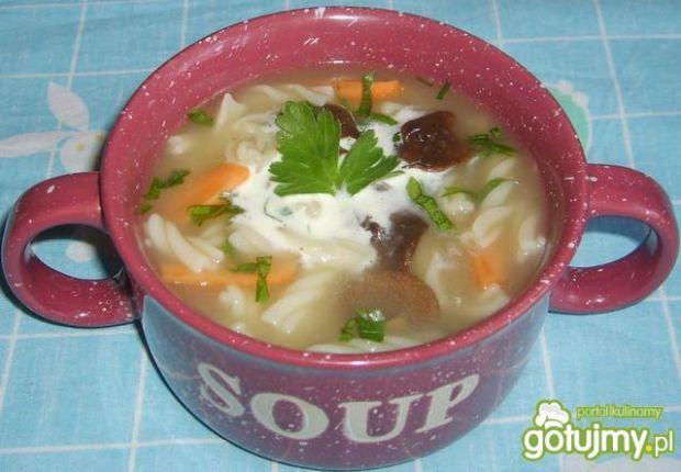 Zupa grzybowa z makaronem katarzynki