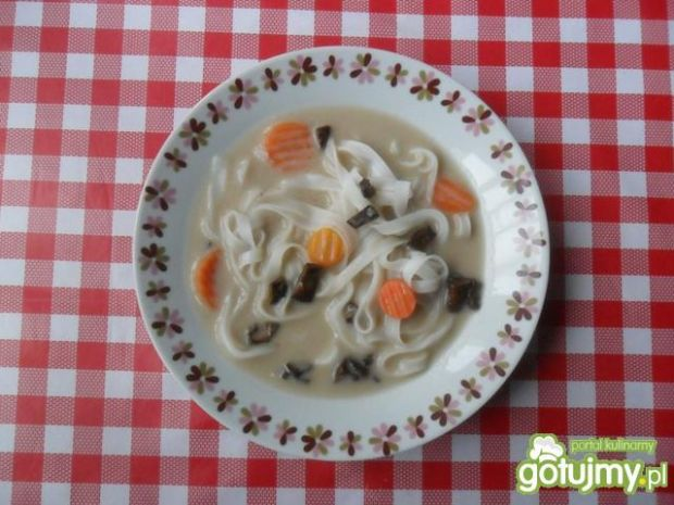 Zupa grzybowa z makaronem ryżowym