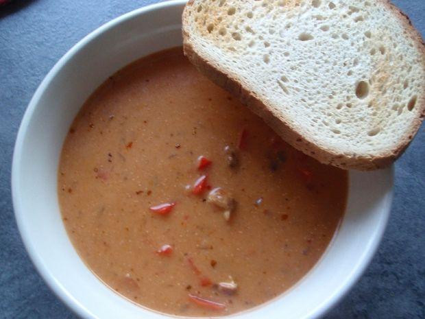 Zupa gyrosowa z czerwoną papryką