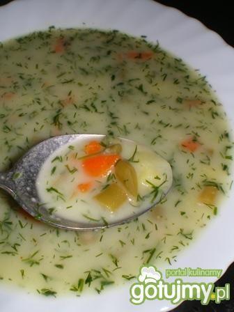 Zupa jarzynowa z fasolką i marchwią