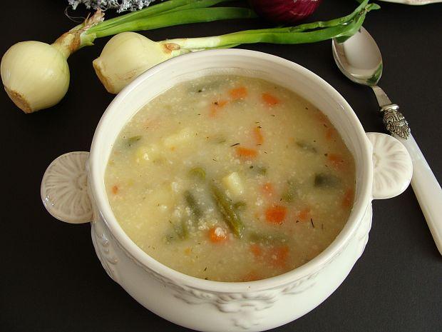 Zupa jarzynowa z jaglanką