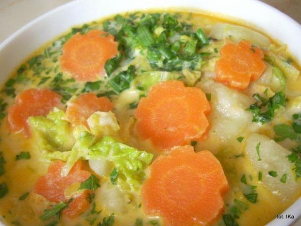Zupa jarzynowa z mlekiem