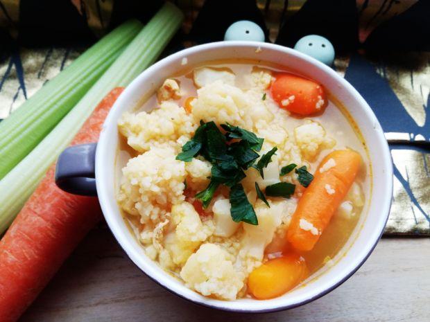 Zupa kalafiorowa z kuskusem