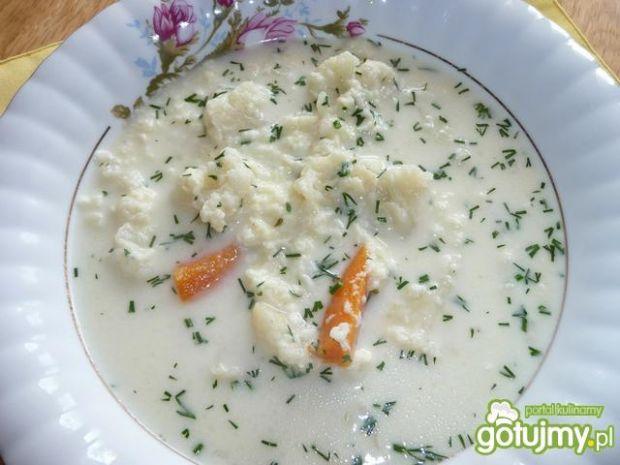 Zupa kalafiorowa z lanymi kluskami
