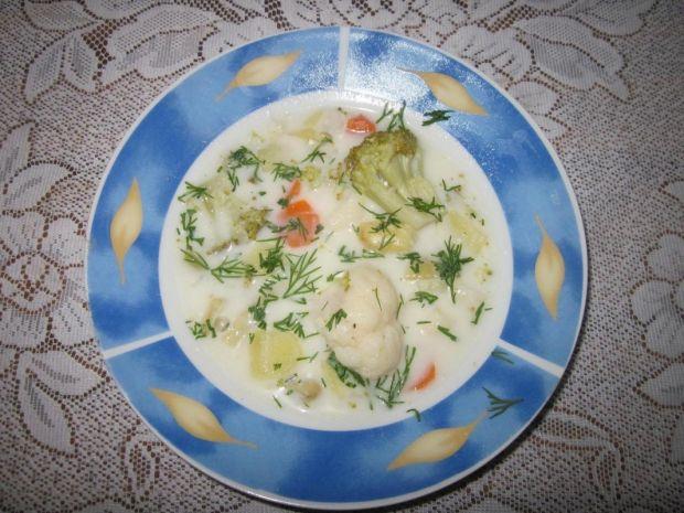 Zupa kalafiorowo-brokułowa