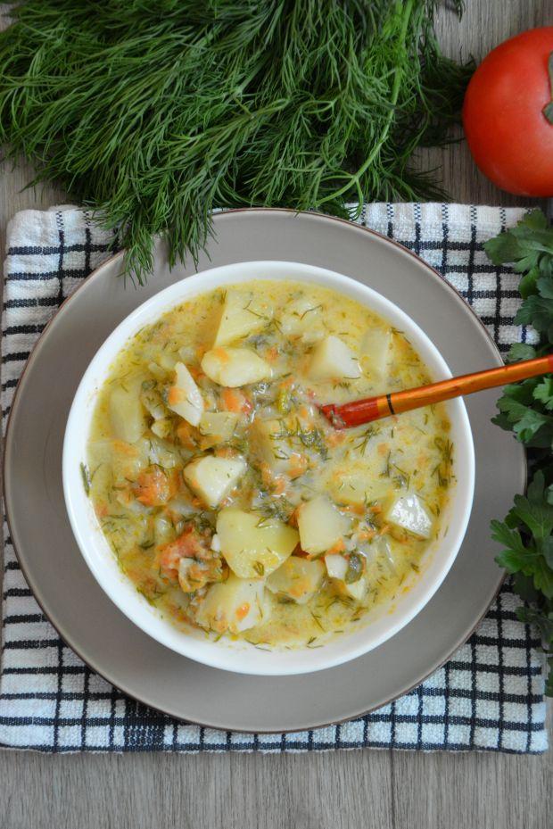 Zupa koperkowa z pomidorami