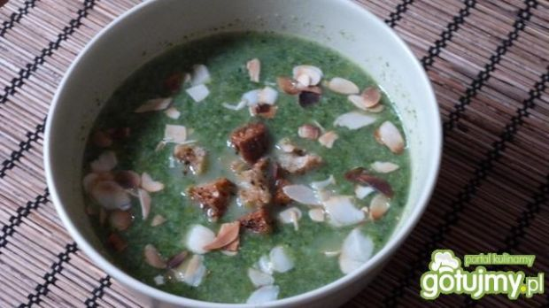 Zupa krem brokułowo -szpinakowa