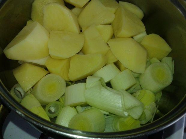 Zupa krem porowo - serowa