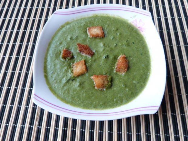 Zupa-krem szpinakowa