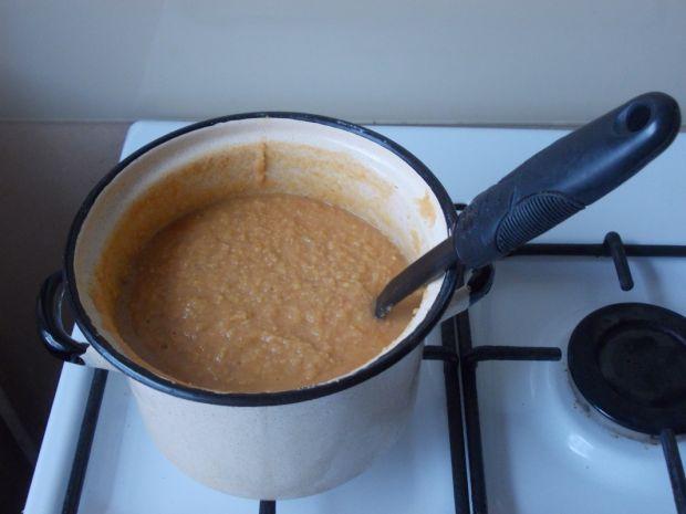 Zupa krem z cieciorki i czerwonej soczewicy