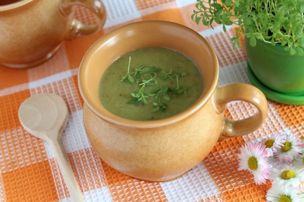 Zupa krem z cukinii i rzeżuchy